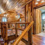 Oak Flooring and Log Rails